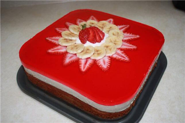 Украшение желейных тортов в домашних условиях