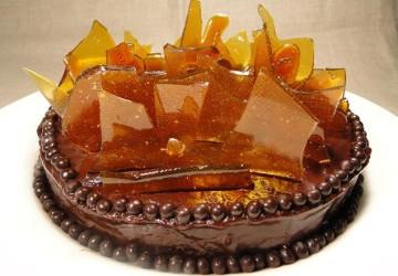 украшение тортов карамелью1