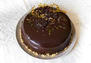 украшение тортов карамелью10