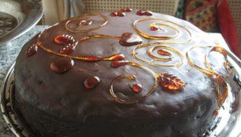 украшение тортов карамелью9
