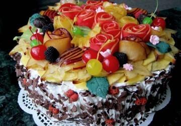 украшение цветами из фруктов