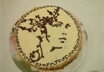 украшения торта картинкой девушки