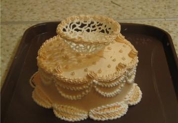 украшения торта узорами из айсинга
