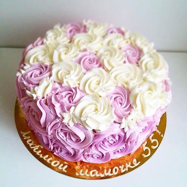 Торт с цветами фото из крема