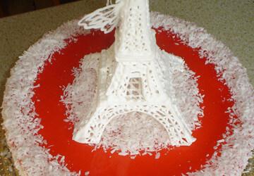 эфилева башня из айсинга с глицерином