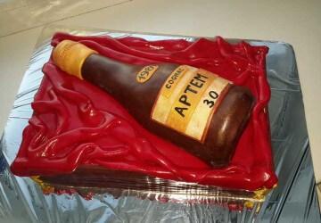 1 МК торт ящик с бутылкой