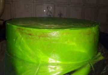 9 замазываем зеленым кремом