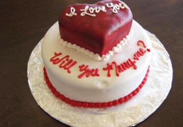 i love you на торте