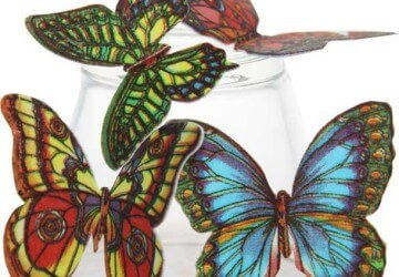 бабочки из вафли