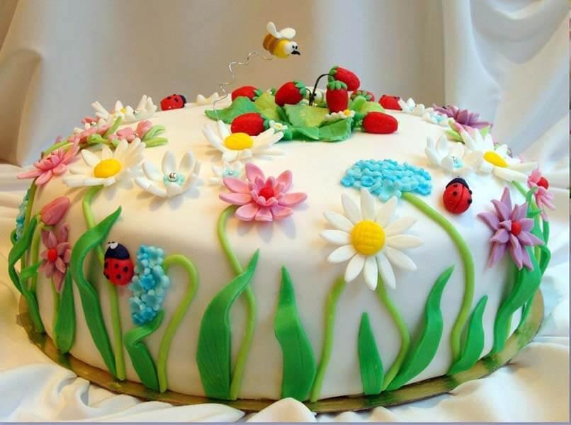 Украшения торта своими руками фото