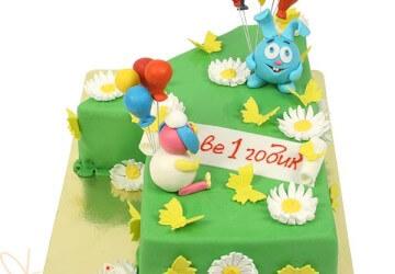 детский торт с цифрой 1
