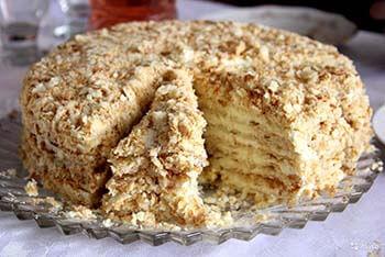 Простой рецепт торта наполеон в домашних условиях