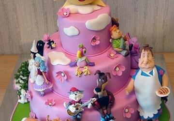 мастичный детский торт