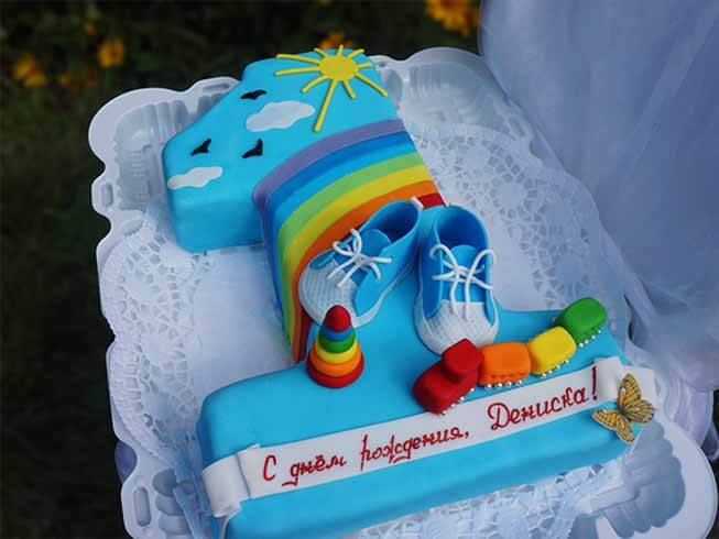 Единичка торт своими руками