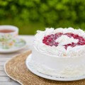 творожно украшенный торт