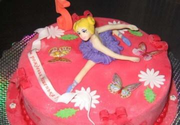 торт для девочек из куклы