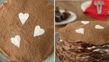 украшение блинного торта посыпками