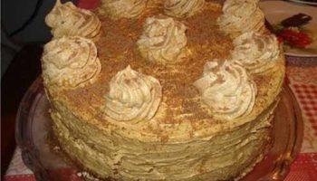 украшение наполеона масляным кремом
