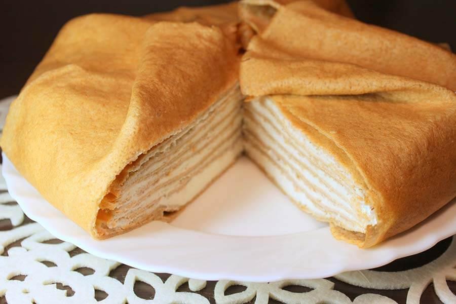 как сделать торт с блинов простой рецепт