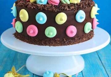 шоколадно-зефирное украшение торта