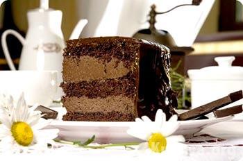 шоколадный торт Прага со сметаной