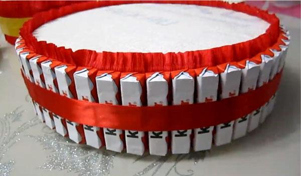 Торт из киндеров своими руками пошагово
