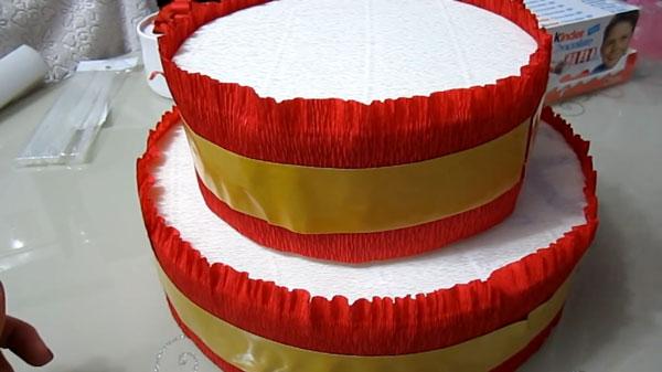 Основа для торта из картона своими руками