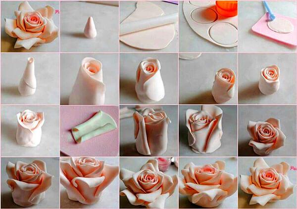 как приготовить разные цветы из мастики