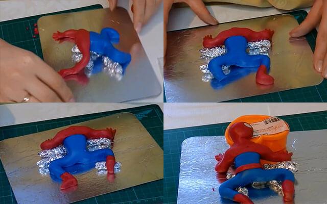 Как сделать человека паука из мастики своими руками 50