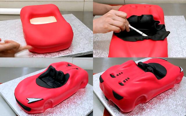Торт в виде машинки своими руками