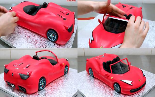 Торт машина своими руками