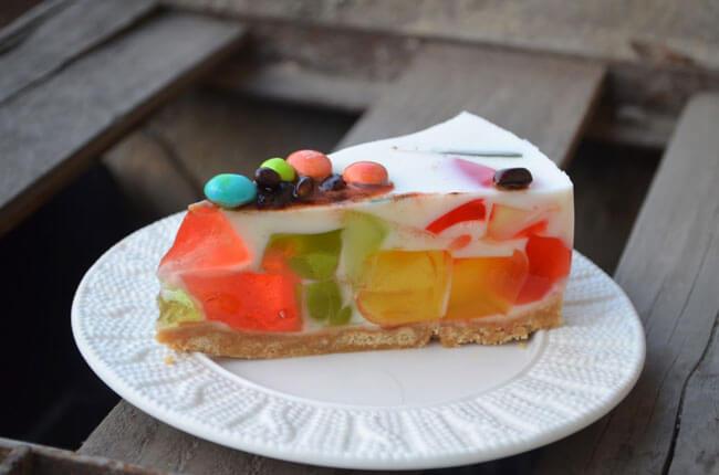 Торт желе со сметаной