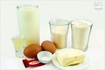 Ингредиенты-для-слоеного-торта-«Наполеон»