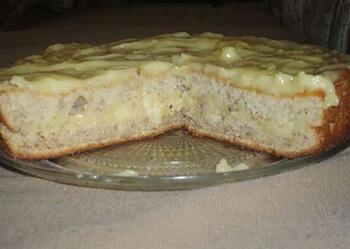 банановый бисквитный торт
