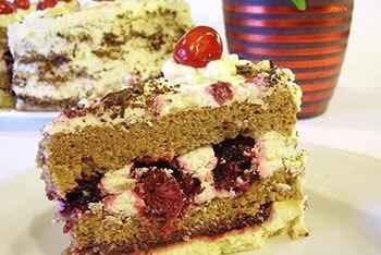 песочно-бисквитный торт