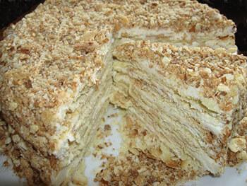 простой торт наполеон