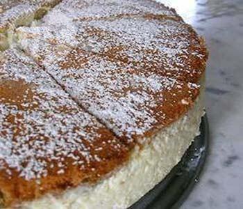 творожно-лимонный торт