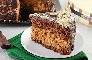торт сникерс с манкой
