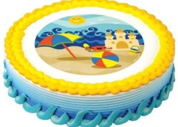 украшение торто из вафельного диска