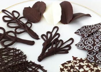 шоколадные узоры для украшения тортов