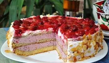 торт Летний с фруктами