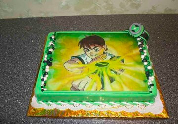 Бэн тэн на вафельном торте