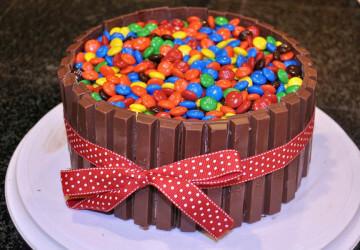 красивый торт из мндемс