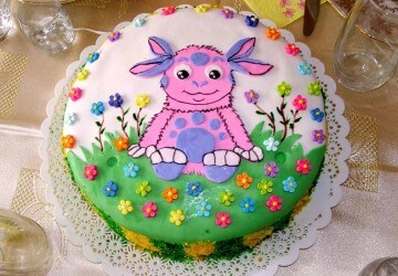 лунтик в вафельном торте