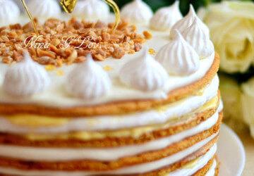 свадебный торт с безе
