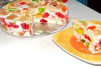 торт битое стекло с печеньем