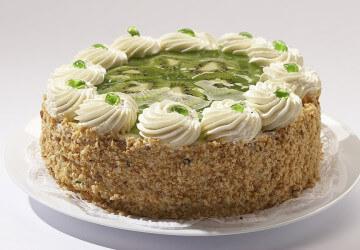 украшение торта с киви