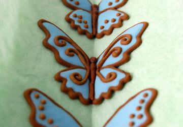 бабочка с помощью айсинга