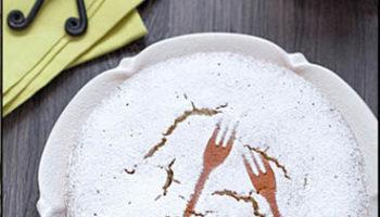 быстрое украшение торта трафаретом