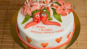 красивое украшение торта для годовщины